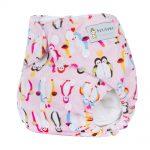 Pocket Nappy - Minky - Penguin Love