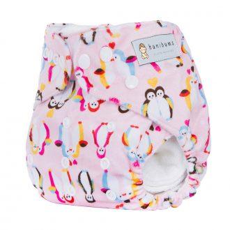 pocket-nappy-minky-cloth-nappy-penguin-love