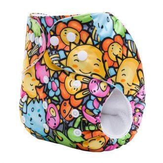 pocket-nappy-minky-cloth-nappy-summer-sunshine